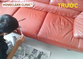 Dịch vụ sửa chữa ghế da Salon bị trầy xước