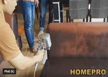 nhuộm sơn ghế sofa da sơn ghế salon da