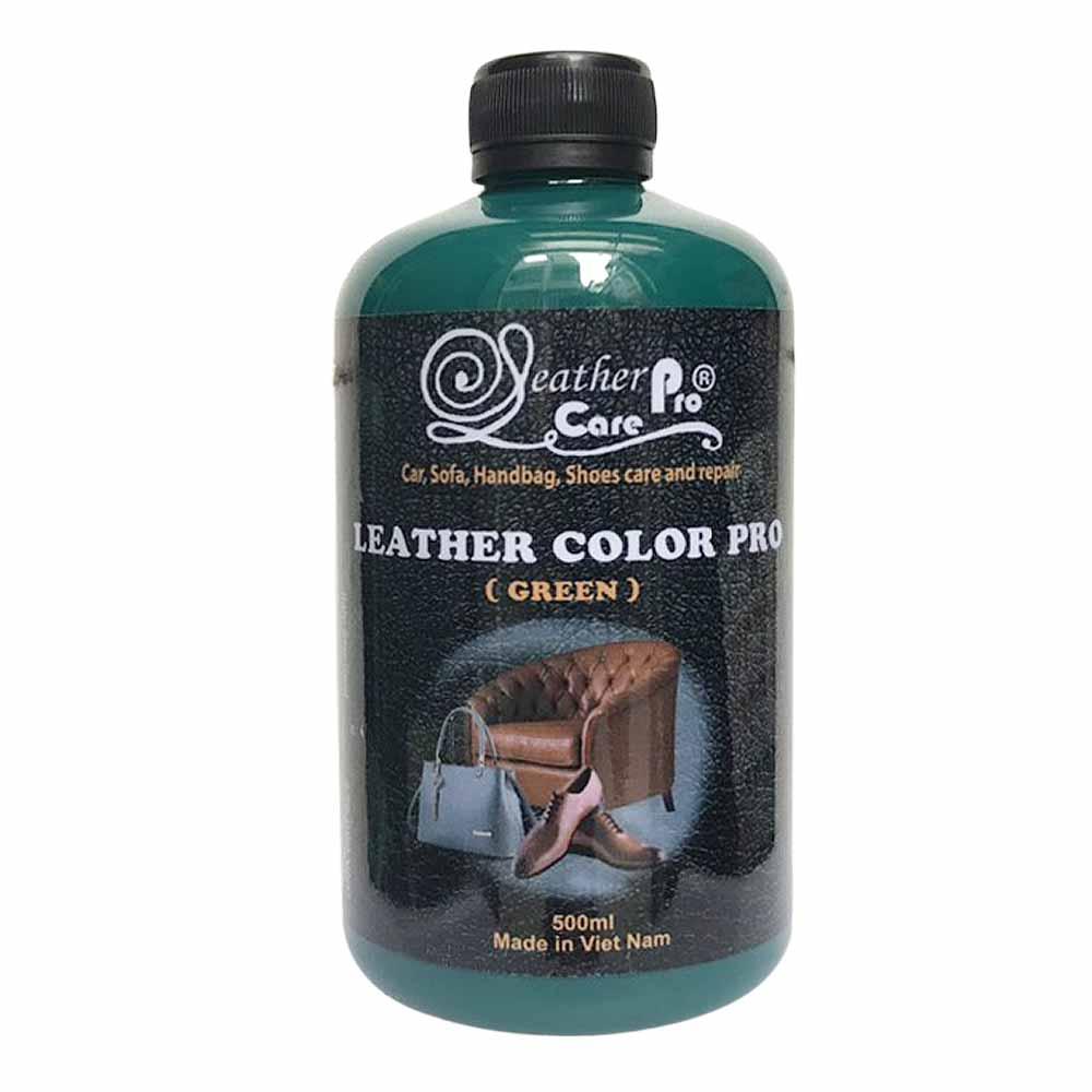 Màu sơn túi xách da, giày da, ghế da xe hơi, ghế Sofa da – Leather Color Pro (Green)