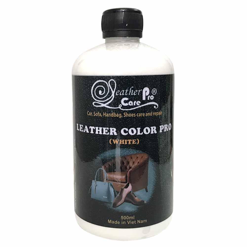 Màu sơn ghế Sofa da, ghế da xe ô tô, túi xách da, giày da – Leather Color Pro (White)
