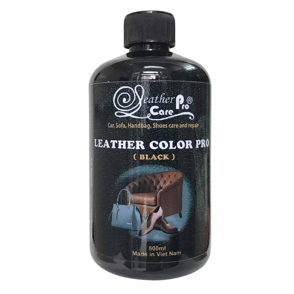 Màu sơn ghế Sofa da, ghế da xe hơi, túi xách da, giày da – Leather Color Pro (Black)
