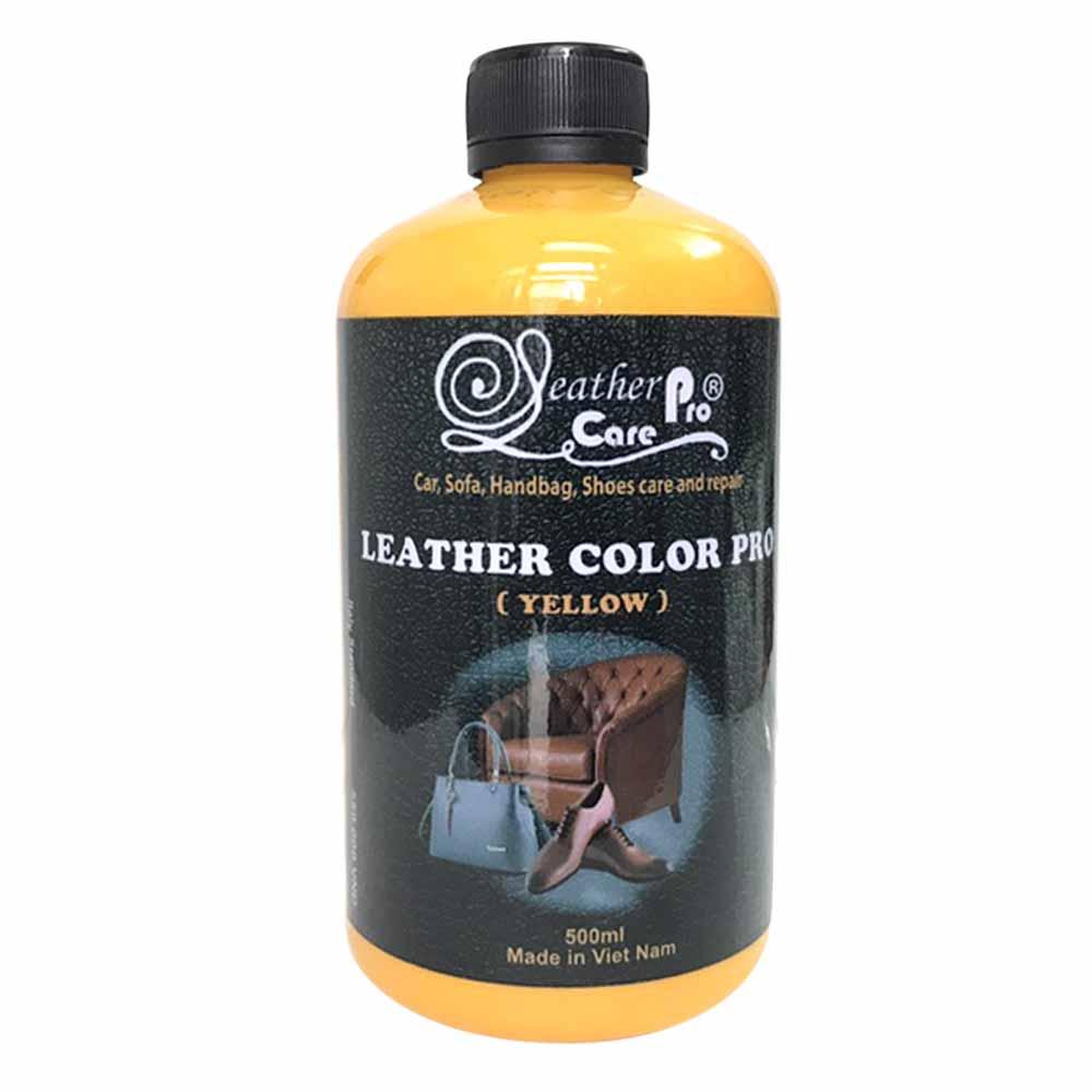Màu sơn ghế da xe hơi, túi xách da, giày da, ghế Sofa da – Leather Color Pro (High Yellow)