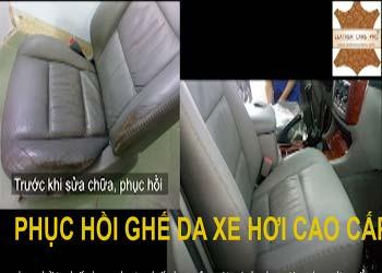 Quy trình phục hồi ghế da xe hơi cao cấp
