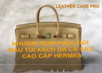 Quy trình phục hồi túi xách da thời trang cao cấp-leather-care-pro