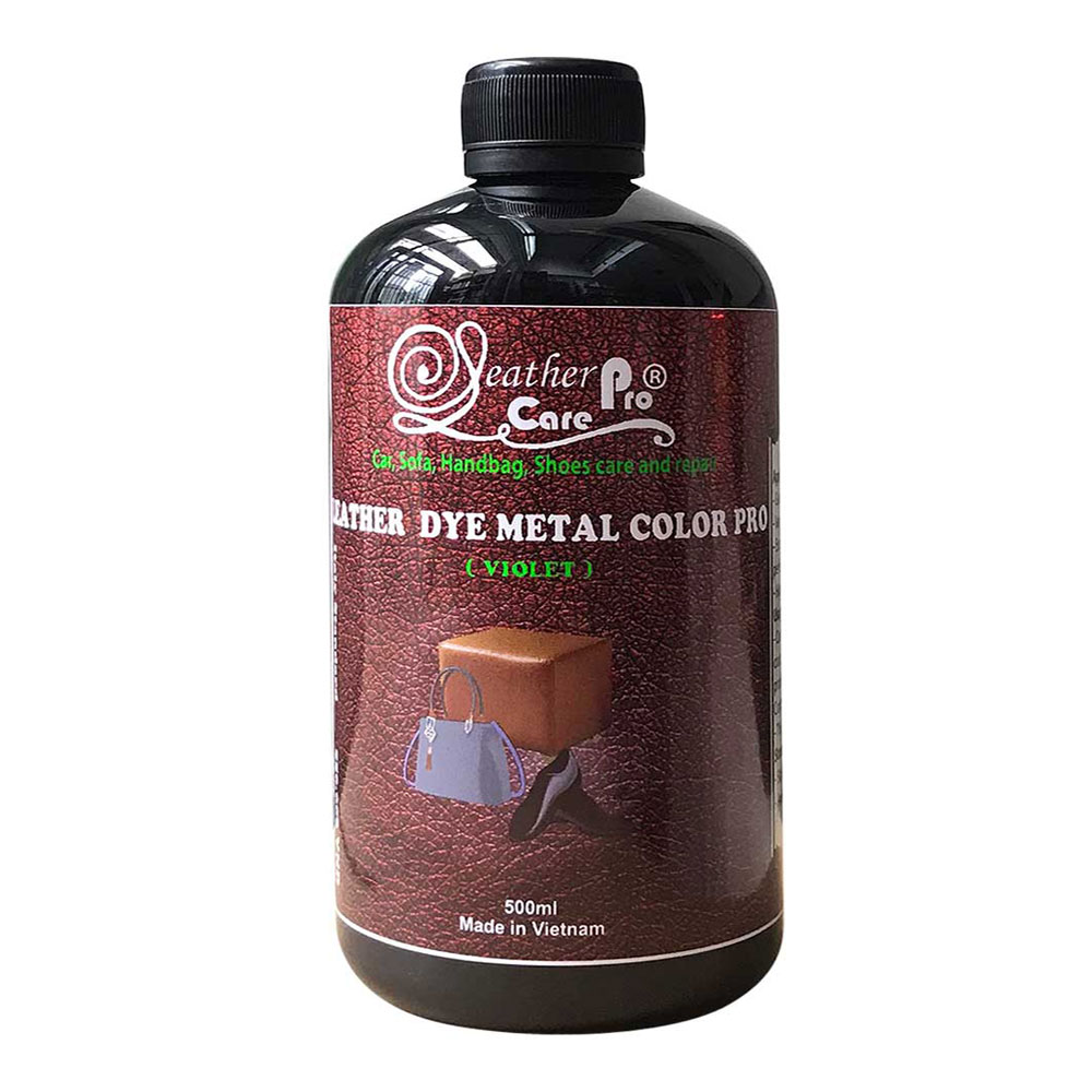 Thuốc nhuộm da Bò, thuốc nhuộm giày da – Leather Dye Metal Color Pro (Violet-Purple)