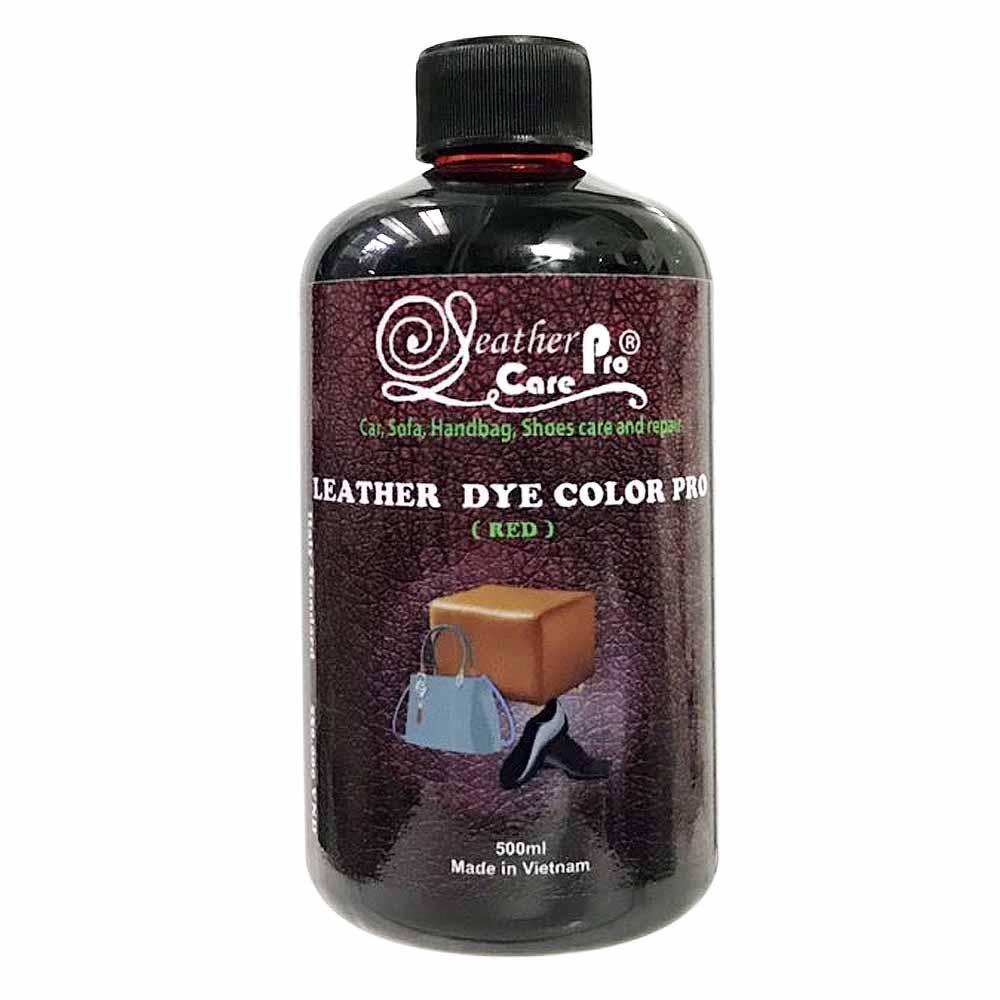 Thuốc nhuộm da bò, màu nhuộm giày da, Túi da – Leather Dye Color Pro (Red)