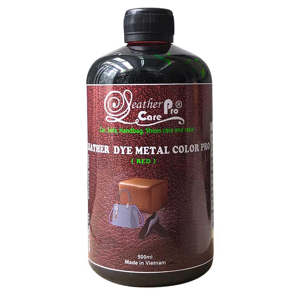 Thuốc nhuộm da Bò, màu nhuộm túi xách da – Leather Dye Metal Color Pro (Red)